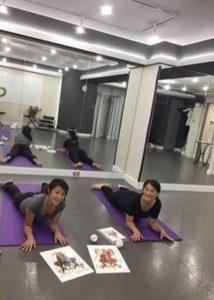 体幹トレーニング 銀座レンタルスタジオ レッスン風景