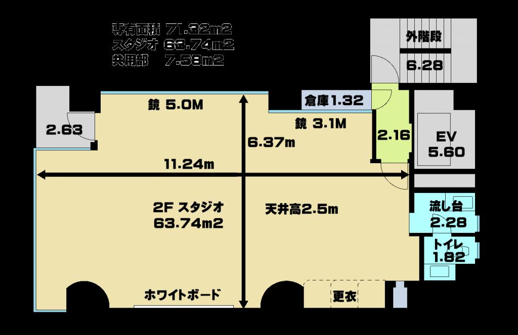 合唱 教室 ができる 銀座 レンタルスタジオ は音楽教室 銀座スタジオ図面