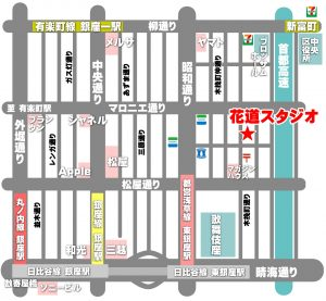 銀座 レンタルスタジオ 地図