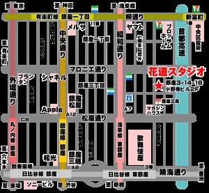 銀座花道スタジオの地図