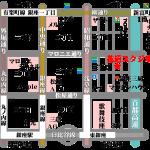 銀座 花道スタジオ 地図 素材 透明GIF